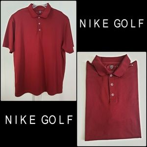 Nike Golf Men Dri-Fit Polo Shirt Deep Red Size 2XL